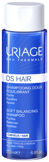 DS HAIR - Shampooing Doux Équilibrant 200 mL - Uriage