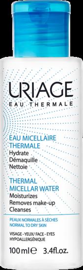 EAU MICELLAIRE THERMALE - Peaux normales à sèches 100 mL Uriage
