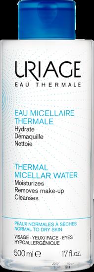 EAU MICELLAIRE THERMALE - Peaux normales à sèches 500 mL Uriage
