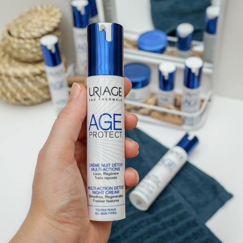 AGE PROTECT-Crème-Nuit-Détox-Multi-Actions-Uriage